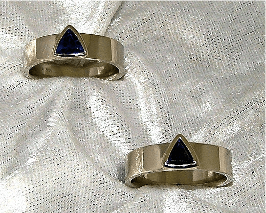 14K white gold rings